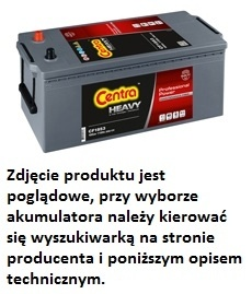 Centra Professional Power CF2353 235 Ah / 1450 A