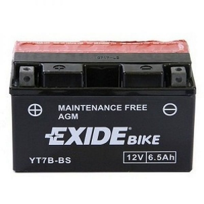 Exide Bike Maintenance Free AGM 12V 6.5 Ah 85A YT7B-BS