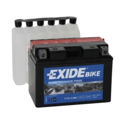 Exide Bike Maintenance Free AGM 12V 11.2 Ah 205A YTZ14-BS / ETZ14-BS