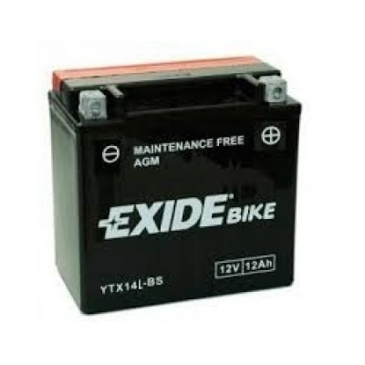 Exide Bike Maintenance Free AGM 12V 12 Ah 200A YTX14L-BS