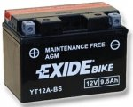 Exide Bike Maintenance Free AGM 12V 9.5 Ah 130A YT12A-BS